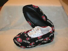 NFL (49'ERS) .bowling shoe covers. Men's size 10-12  Cotton, lined, vinyl soles