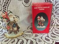 Santa Of The Nations GERMANY Hand Painted Porcelain Christmas Figurine 1991 NEW