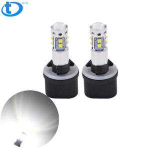 NEW 2x 880 899 6000K Super White  50W High Power LED Fog Light Driving Bulbs