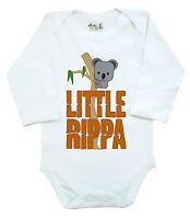 """Dirty Fingers Long Sleeve Bodysuit Baby grow """"Little Rippa"""" Koala Bear Australia"""
