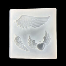 DIY Angel Wings transparent Epoxy Pendant mold Silicone Fondant Sugar Mold@ HLUS