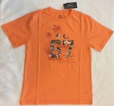 Polo Ralph Lauren Boy's Tee Orange Hawaiian RL 67 Graphic Size M (10-12) NWT