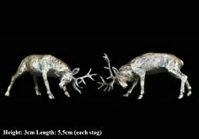 Stags Rutting Solid Bronze Foundry Cast Detailed Sculpture Butler & Peach [2051]