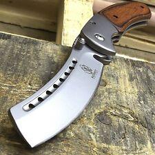"""8"""" BUCKSHOT RAZOR BLADE STYLE WOOD SPRING ASSISTED FOLDING POCKET KNIFE Open EDC"""