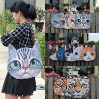 Magik Women Animal Muzzy 3D Cat Dog Tiger Face Zipper Shoulder Bag Tote Handbag