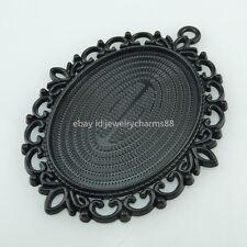 14660 4PCS Black 40x30mm Frame Base Tray Holder Setting Pendant For Cameo