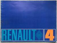 RENAULT 4 Car Sales Brochure c1968 #46.164-03-03 FRENCH TEXT
