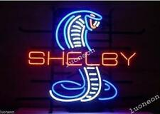 COBRA SHELBY MUSTANG Snake HANDCRAFTED NEON SIGN BAR LIGHT MAN CAVE Free Ship