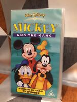 Walt Disney Mickey Mouse And The Gang VHS Video Tape Childrens TBLO