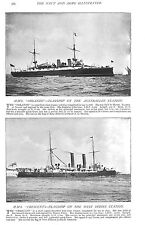 1896 HMS ORLANDO FLAGSHIP AUSTRALIAN STATION, HMS CRESCENT FLAGSHIP WEST INDIES