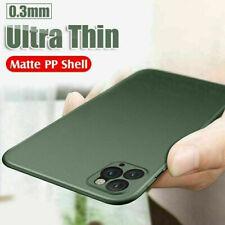 Pour IPHONE 11 Pro Max XS 8 7+ Luxe Ultra-Fine Slim Mat Rigide Transparent Coque