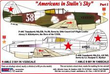 AML Models Decals 1/32 AMERICANS IN STALIN'S SKY P-40 Warhawk Part 1
