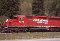 CANADIAN PACIFIC Railroad Locomotive CP RAIL 7553 Original Photo Slide