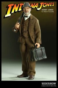 "Sideshow Indiana Jones Last Crusade Henry Jones,S R. 1/6 12""Figure MIB"