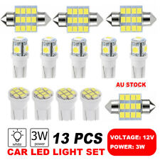 13Pc 12V T10 LED White Car Interior Light Parker Bulb Wedge Globe 31MM 12SMD New