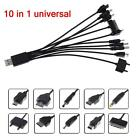 10 IN 1 UNIVERSAL USB MULTI CHARGER CABLE ADAPTER FOR MOBILE PHONE PXU CAR LG TB