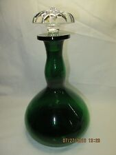 Fostoria #2494 Emerald Green 26 oz Decanter with Crystal Stopper