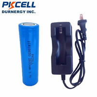 ICR18650 2600mAh 3.7V Lithium Rechargeable Batteries Flat Top and Smart Charger