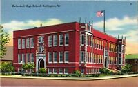 Vintage Postcard - Un-Posted Cathedral high School Building Vermont VT #4811