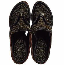 Embroidered Heel Wedges Ethnic Fashion Woman, Slippers US 8