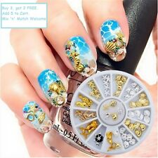 3D Nail Art Studs Crafts Decoration Ocean Seashell Starfish Mermaid Charms Shell