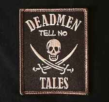 DEAD MEN TELL NO TALES PIRATE SKULL SWORD SWAT TACTICAL VELCRO MORALE PATCH