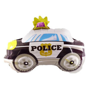 POLICE Shape Birthday Party Foil Balloon 29in Kids Children Gifts Decorations