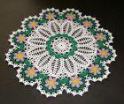 Crochet+Doily+Daisy+Flowers+White+Green+Yellow+Violet+14%22+new