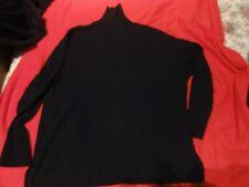 pull noir col haut  taille 48