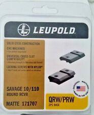 Leupold Savage 10/110 Round Rcvr Matte 171707 Qrw/Prw 2 Pc Base New