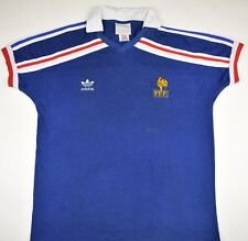 1985-1990 FRANCE ADIDAS HOME FOOTBALL SHIRT (SIZE L)