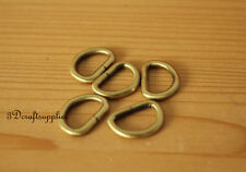 d ring d-rings purse ring Webbing Strapping metal anti bronze 5/8 inch 20pcs i59