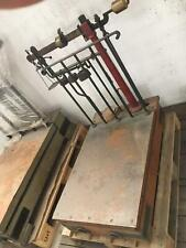 Bilancia d'epoca bascule, con pianale in legno o in ferro