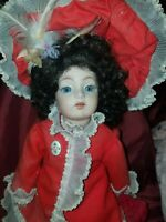 """Antique REPRO Victorian/ French Porcelain Doll German? 13"""" loose string PLZ READ"""