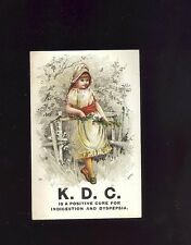 VICTORIAN TRADE CARD: K.D.C. CURE (TONIC), BUFFORD, PRETTY GIRL COLOR LITHO