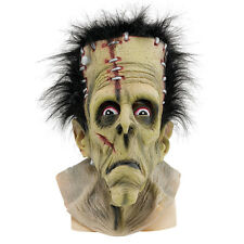 Frankenstein Completo Cabeza Máscara De Latex Adulto Fancy Dress Costume Accesorio