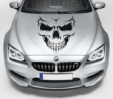 Large Smiling Skull Car Bonnet Hood Vinyl Decal Sticker Van Side Panel Decal 01
