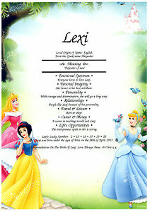 PERSONALISED FIRST NAME ORIGIN MEANING* PRINCESS or POOH