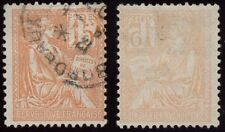 FRANCE 1900 MOUCHON 15c ORANGE...GOOD OFFSET IMPRESSION