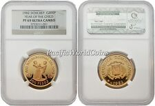 Dominicana 1982 Year of Child 200 Pesos Gold NGC PF-69 ULTRA CAMEO