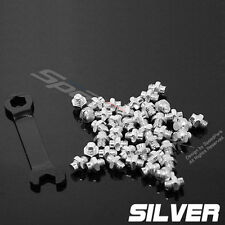 Wellgo Bike Bicycle Cycling Pedals Aluminum alloy Replacement M4 Pins - Silver