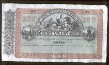 Isabel II Banco de Bilbao PAREJA 100 y 4000 Reales de Vellon @@ S.C. @@