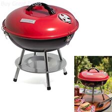 Small Portable Charcoal BBQ Grill Outdoor Backyard Cooking Barbecue Pit Red New