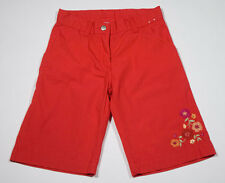 GYMBOREE GIRLS SIZE 6 NEW CROPPED CAPRI PANTS RED FLORAL FLOWERS