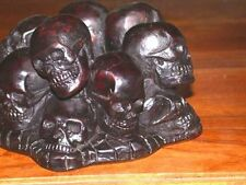 13 Skulls Ashtray Bone Resin Cambodia Killing Fields