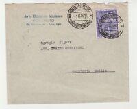 STORIA POSTALE - 1950 REPUBBLICA ANNO SANTO L.20 SU BUSTA ROVERETO 1/8 D/7745