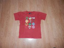 T shirt Quiksilver rouge manches Courtes taille 5 ans garçon