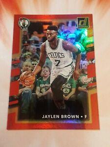 2017-18 Donruss Red Press Proof #'d/99 JAYLEN BROWN #6 Boston Celtics