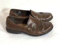 Rockport Cobb Hill Paulette Slip On Shoes Brown Leather Womens Size 7W