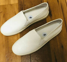 NEW Vince Womens White  Slip On Sneakers Slides Comfort Shoes Size 9 Fast ship